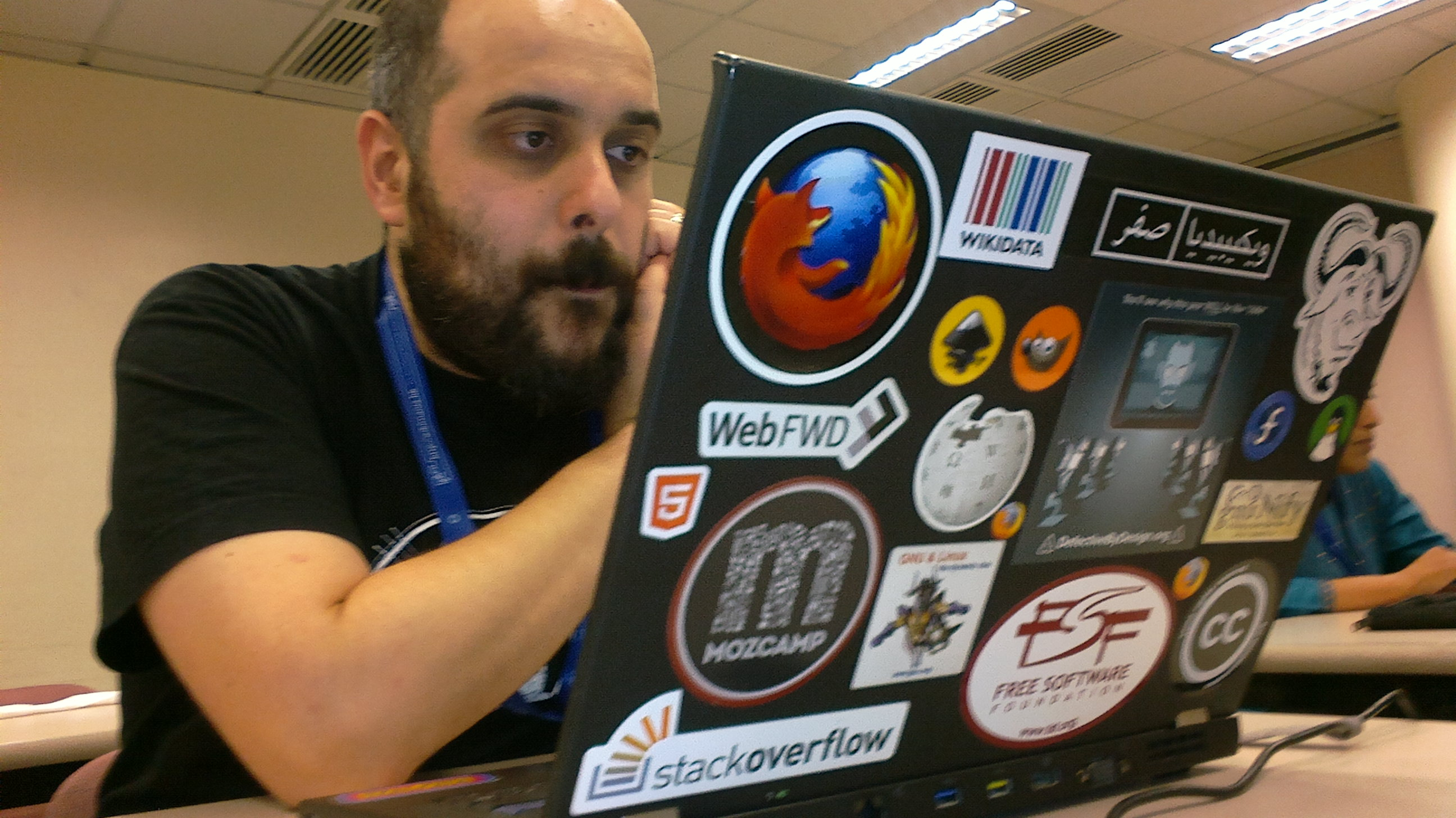 Amir Aharoni on Devs Wikimania 2013. Photo: Lvova. License: CC-BY-SA-3.0