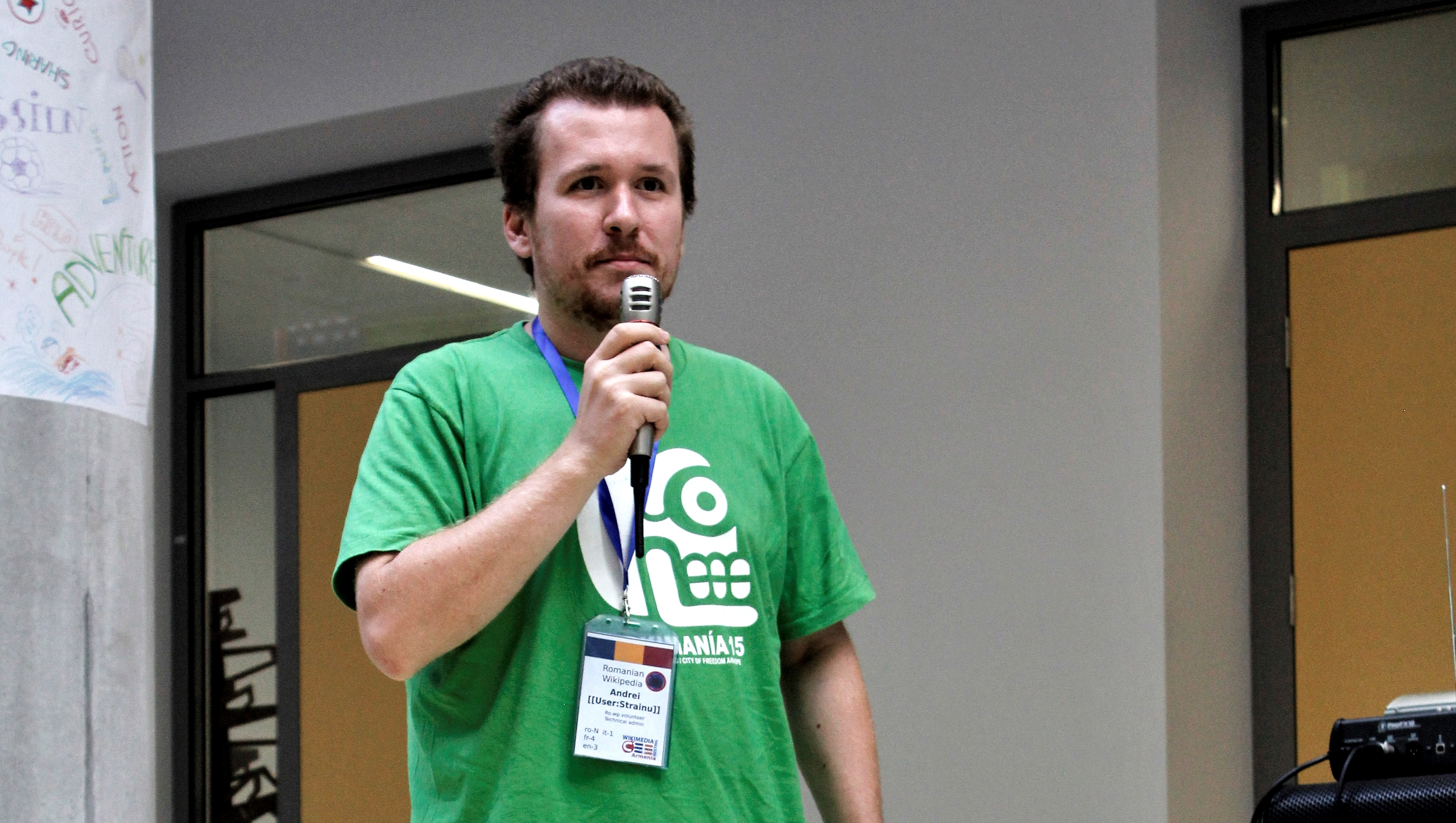 Andrei Cipu at Wikimedia CEE 2016. Photo: Lubekar. License: CC-BY-SA-4.0