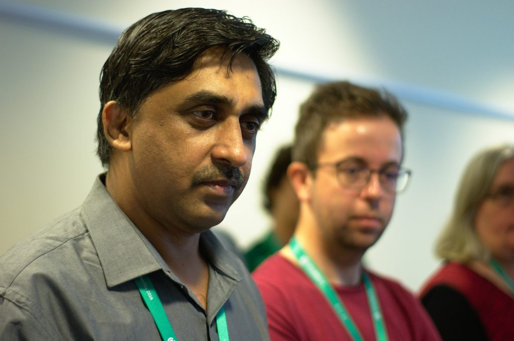 Rahul Deshmukh and Toni Ristovski at Wikimedia Conference 2018. Photo: Habib M'henni / Wikimedia Commons. License: CC-BY-4.0